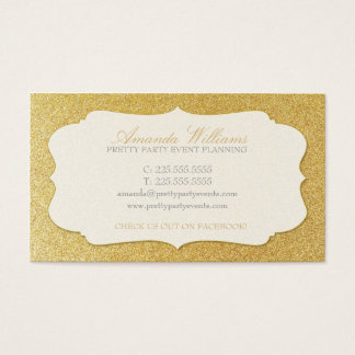 Stylish Gold Glitter Business Card