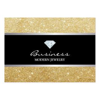 Stylish Gold Glitter Modern Jewelry Business Card