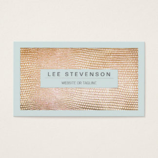 Stylish Gold Snakeskin Beauty and Fashion Business Card