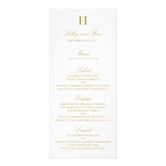 Stylish Gold & White Wedding Menu Template
