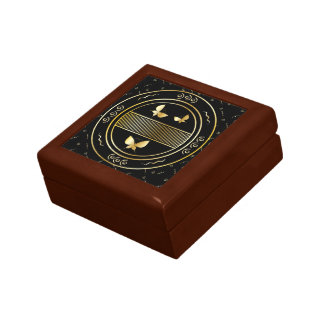 Stylish golden butterfly oriental style design gift box