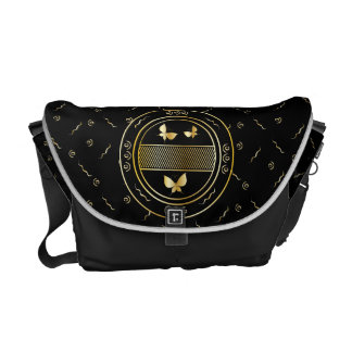 Stylish golden butterfly oriental style design courier bags