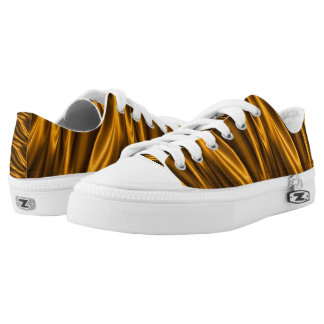 Stylish golden Low Top Shoes Printed Shoes