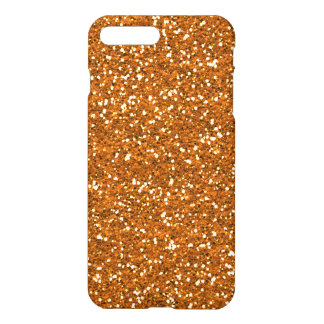Stylish Golden Orange Glitter iPhone 7 Plus Case