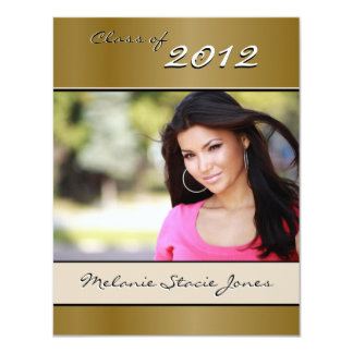 Stylish Grad Announcement / Invitation - Gold