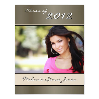 Stylish Grad Announcement / Invitation - Pewter