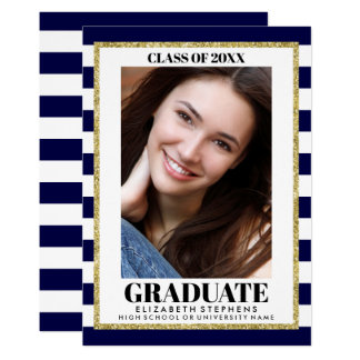 Stylish Graduation Photo ANY COLOR Announcement