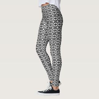 Stylish Gray and Black Pattern Leggings