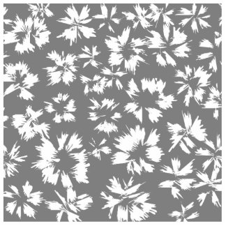 Stylish Gray and White Floral Pattern Cut Outs