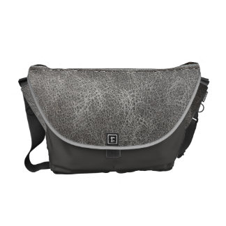 Stylish Gray Leather Look Commuter Bags