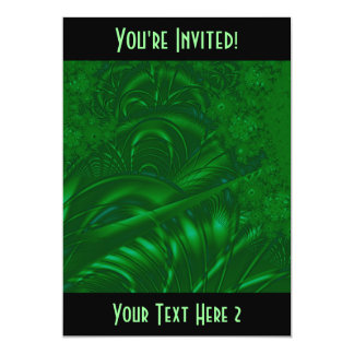 Stylish Green Abstract Art Design. Fractal. Card