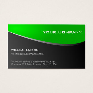 Stylish Green and Grey, Company Business Card