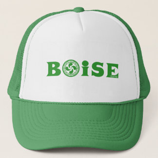 Stylish green Basque Boise logo (with lauburu), Trucker Hat