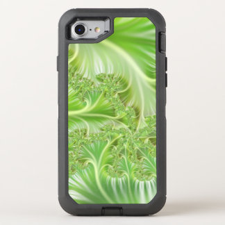 Stylish green Fractal Art Pattern OtterBox Defender iPhone 8/7 Case