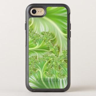 Stylish green Fractal Art Pattern OtterBox Symmetry iPhone 7 Case