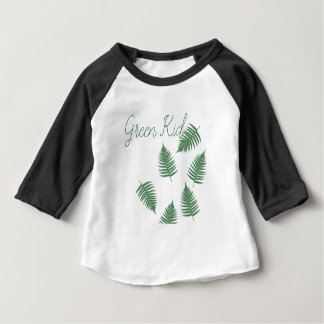 Stylish Green Kid Lucky Fern Baby 3/4 Sleeve Shirt