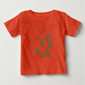 Stylish Green Kid Lucky Fern Baby T-Shirt Top