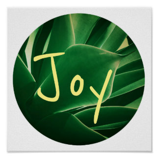 Stylish Green Plant Succulent Joy Poster