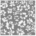 Stylish Grey and White Floral Pattern. Acrylic Cut Out