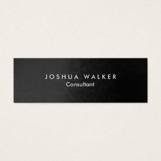 Stylish Grey Artistic Slim Professional Mini Business Card