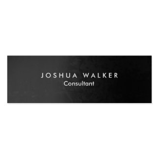 Stylish Grey Artistic Slim Professional Pack Of Skinny Business Cards