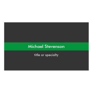 Stylish Grey Green Stripe Standard Business Card