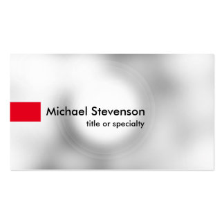 Stylish Grey Light Red Modern Unique Consultant Pack Of Standard Business Cards