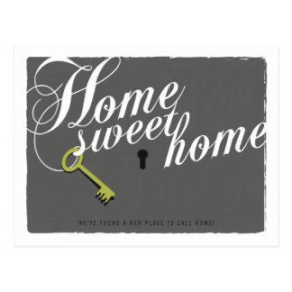 Stylish Grey New Address Announcement Postcard