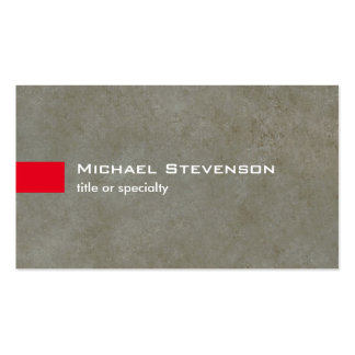 Stylish Grey Rock Stone Modern Unique Pack Of Standard Business Cards