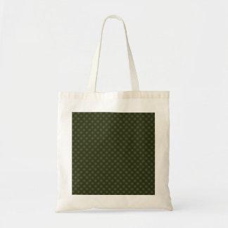 Stylish grey turbines on green background canvas bag