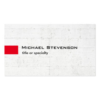 Stylish Grey Wall Red Modern Unique Pack Of Standard Business Cards