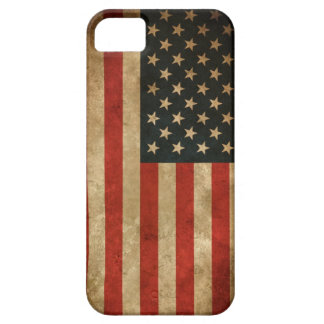Stylish Grunge American Flag Pattern USA Patriotic Barely There iPhone 5 Case