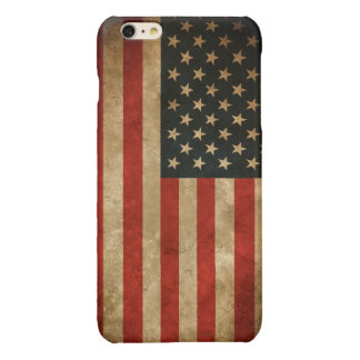 Stylish Grunge American Flag Pattern USA Patriotic iPhone 6 Plus Case