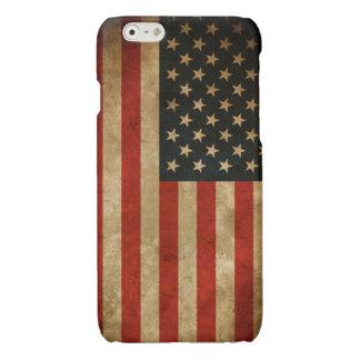 Stylish Grunge American Flag Pattern USA Patriotic iPhone 6 Plus Case