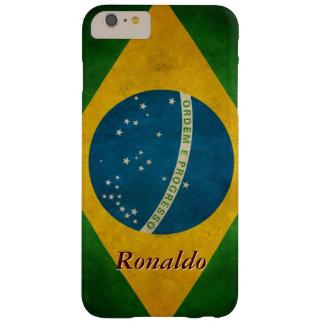 Stylish Grunge Brazil Flag Bandeira do Brasil Barely There iPhone 6 Plus Case