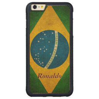 Stylish Grunge Brazil Flag Bandeira do Brasil Carved® Maple iPhone 6 Plus Bumper