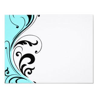 Stylish Hair Salon Notecards 11 Cm X 14 Cm Invitation Card