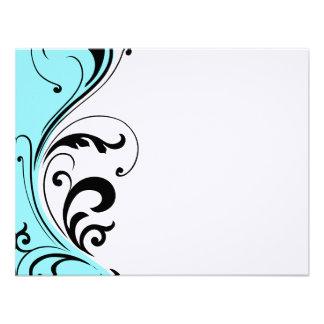 Stylish Hair Salon Notecards Custom Invite