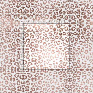 Stylish hand drawn rose gold leopard print fabric