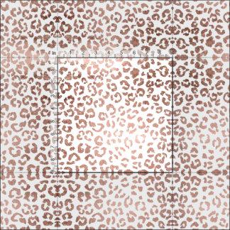 Stylish hand drawn rose gold leopard print fabric