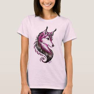 Stylish Hand Drawn Wolf Women's Classic T-Shirt