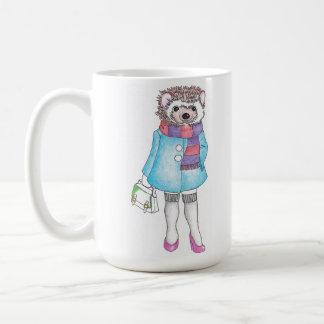 Stylish Hedgie Basic White Mug