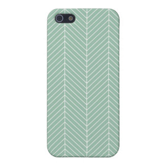 Stylish Herringbone Chevrons Pattern in Green Case For The iPhone 5