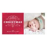 STYLISH HOLIDAY PHOTOCARD :: sending christmas joy Personalised Photo Card
