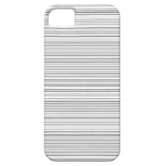 Stylish Horizontal Lines Design in Black and White Case For The iPhone 5