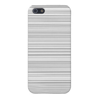 Stylish Horizontal Lines Design in Black and White iPhone 5/5S Cases