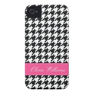 Stylish Houndstooth iPhone 4 Case-Mate Case