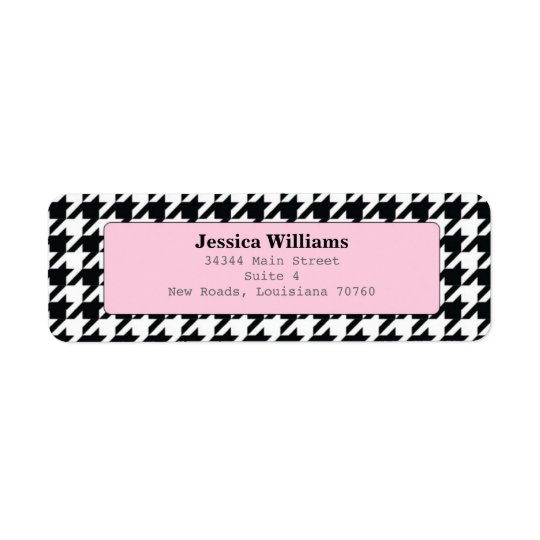 Stylish Houndstooth Return Address Label