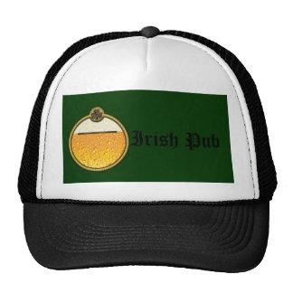 Stylish Irish Pub beer logo Mesh Hats