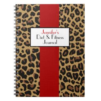 Stylish Jaguar Fur Pattern Custom Journal Spiral Notebooks